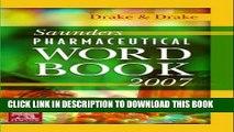New Book Saunders Pharmaceutical Word Book 2007, 1e
