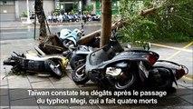 Taïwan constate les dégâts après le passager du typhon Megi