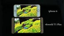 Pantalla del VKWorld T1 Plus Kratos VS pantalla del iPhone 6