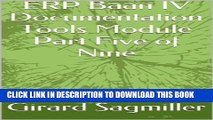 [PDF] ERP Baan IV Documentation Tools Module Part Five of Nine (ERP Baan IV Tools Book 1) Full