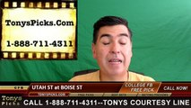 Boise St Broncos vs. Utah St Aggies Free Pick Prediction NCAA College Football Odds Preview 10/1/2016