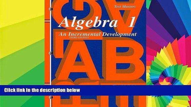 Big Deals  Saxon Algebra 1: Test Master Third Edition Third Edition  Best Seller Books Best Seller