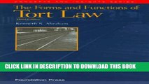 [PDF] Abraham s the Forms and Functions of Tort Law, 3D (Concepts and Insights Series) Popular