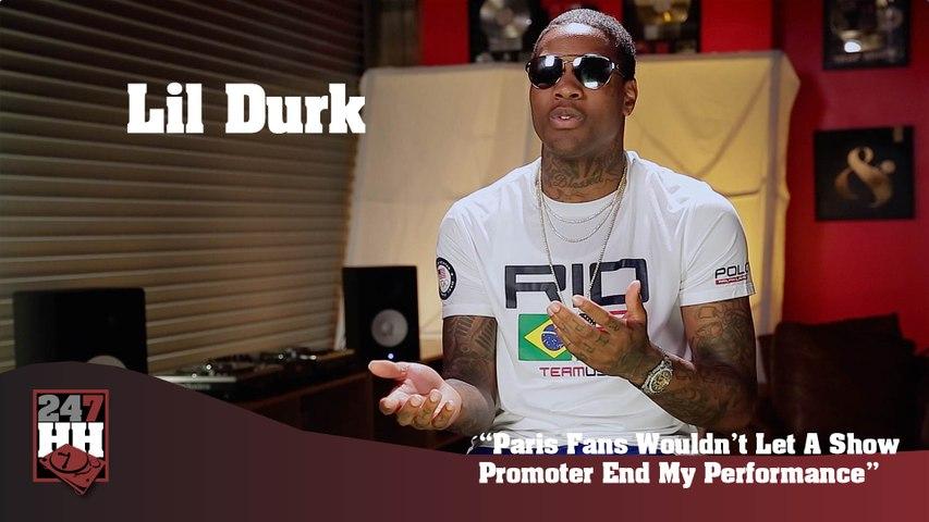 Lil Durk - Paris Fans Wouldn't Let A Show Promoter Stop The Show (247HH Wild Tour Stories)