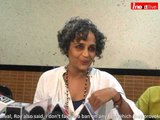 Known author Arundhati Roy says, i don't favour a ban on any film provoking hate in the society