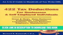 [PDF] 422 Tax Deductions for Businesses   Self Employed Individuals (475 Tax Deductions for