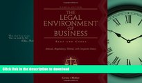 FAVORIT BOOK The Legal Environment of Business: Text and Cases: Ethical, Regulatory, Global, and