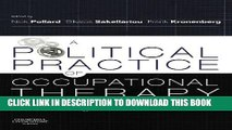 New Book A Political Practice of Occupational Therapy, 1e