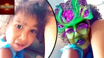 North West Turns Into A CABBAGE In Snapchat Video | Hollywood Asia