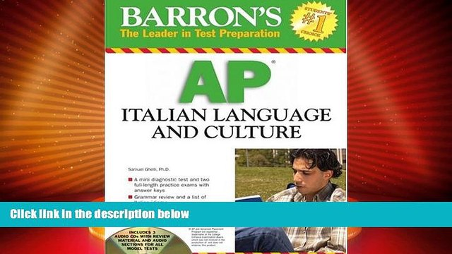 Big Deals  Barron s AP Italian Language and Culture: with Audio CDs  Free Full Read Best Seller