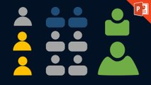 Design a people icon in powerpoint - Powerpoint icon design