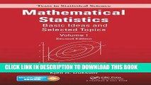 [PDF] Mathematical Statistics: Basic Ideas and Selected Topics, Volume I, Second Edition Full