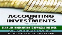 [PDF] Accounting for Investments, Fixed Income Securities and Interest Rate Derivatives: A