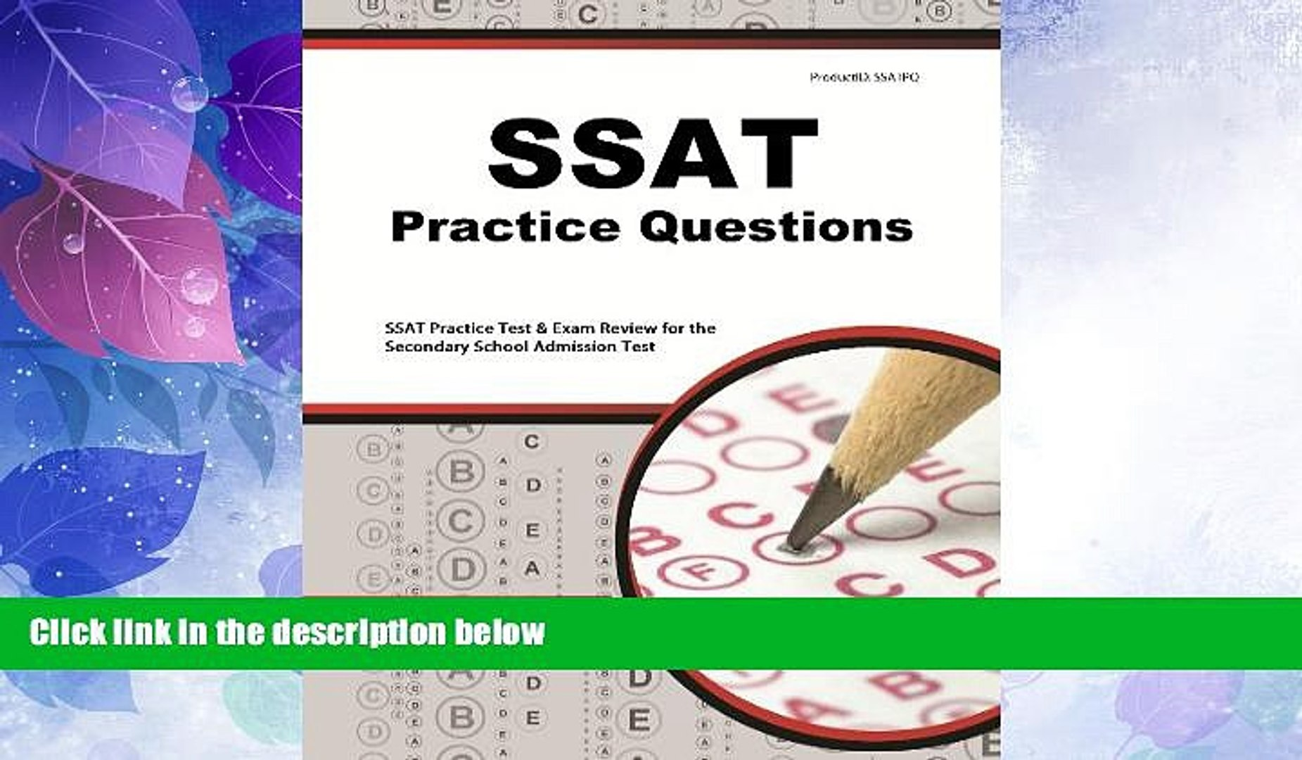 Ssat Upper Level Flashcard Study System Ssat Test Practice Questions and Review For the Secondary School Admission Test Ssat Test Practice Questions and Review For the Secondary School Admission Test
