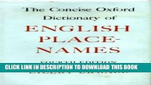 Download The Concise Oxford Dictionary of English Place