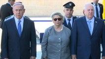 Israele, l'omaggio del presidente Rivlin e di Netanyahu a Peres