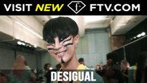 Makeup at Desigual Spring/Summer 2017 NYFW | FTV.com