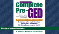 Enjoyed Read Contemporary s Complete Pre-GED : A Comprehensive Review of the Skills Necessary for
