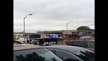 Video captures emergency crews rushing to train crash site