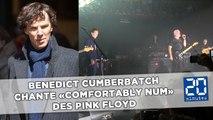 Benedict Cumberbatch chante lors d'un concert David Gilmour de Pink Floyd