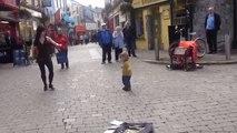 Little Girl Learns to Irish Tap Dance on Galway Street