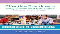PDF Download] Effective Practices in Early Childhood Education