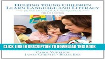New Book Helping Young Children Learn Language and Literacy: Birth through Kindergarten (3rd