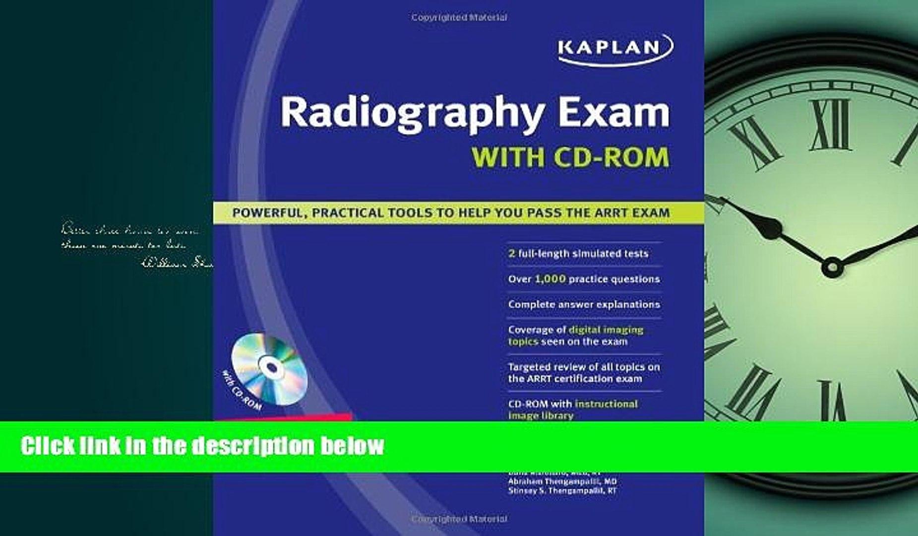 Popular Book Kaplan Radiography Exam with CD-ROM