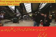 First images New Jersey hoboken station train crash Raw Video