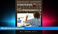 different   Behavior Support Strategies for Education Paraprofessionals