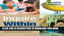 New Book Inquire Within: Implementing Inquiry- and Argument-Based Science Standards in Grades 3-8