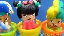 Cắt Tóc Tạo Kiểu Tóc Cắt Tóc Cho Thầy Giáo Play-doh hair Salon Toys