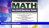 Big Deals  Math for Civil Service Tests  Best Seller Books Most Wanted