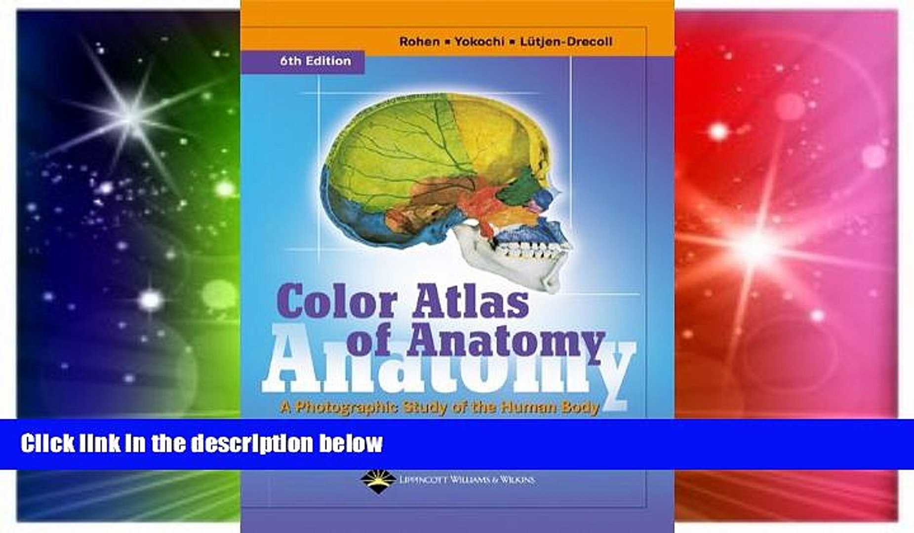 Must Have PDF Color Atlas of Anatomy: A Photographic Study of the Human  Body (Color Atlas of