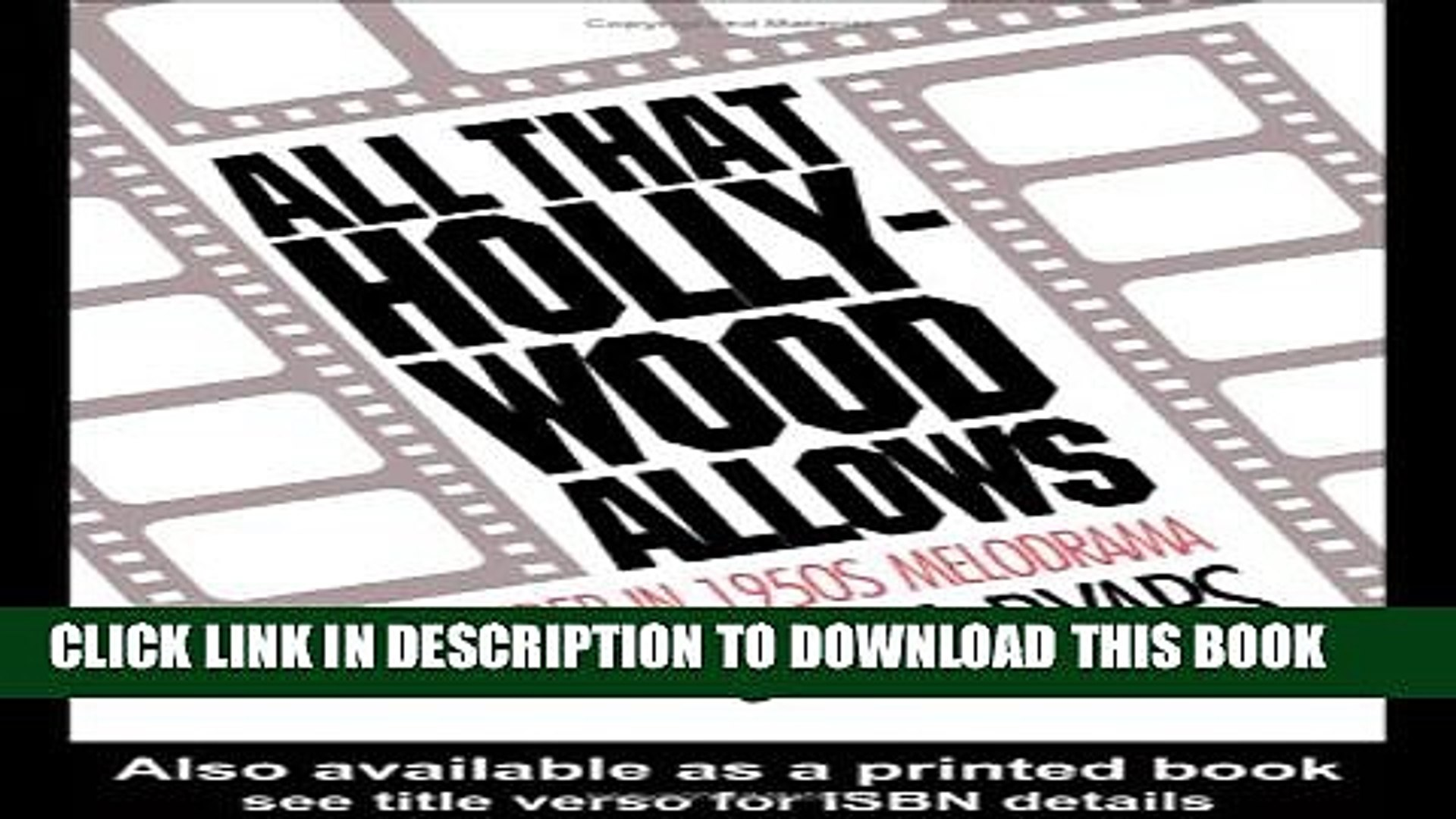 [PDF] All that Hollywood Allows: Re-reading Gender in 1950s Melodrama Full Online