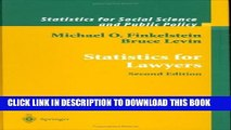 [PDF] Statistics for Lawyers (Statistics for Social and Behavioral Sciences) Full Collection