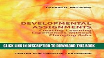 [PDF] Developmental Assignments: Creating Learning Experiences Without Changing Jobs (CCL) Full