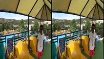 3D VR - Side by Side (SBS) HD - Extreme Yellow Water Slide at Acqua Plus - Google Cardboard