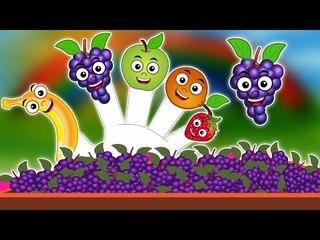 Frutas Dedo Família   Desenhos animados para crianças   vídeo educativo   Fruits Finger Family