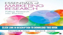 [PDF] Essentials of Marketing Research: Putting Research Into Practice Popular Online