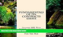 Must Have  Fundamentals Of 75% Contracts Essays: 9 dollars 99 cents only! Electronic lending