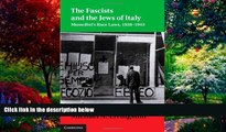 Big Deals  The Fascists and the Jews of Italy: Mussolini s Race Laws, 1938-1943 (Studies in Legal