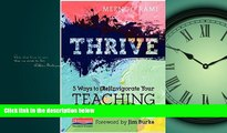 Fresh eBook Thrive: 5 Ways to (Re)Invigorate Your Teaching