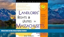 Books to Read  Landlords  Rights   Duties in Massachusetts: With Forms (Landlord s Legal Guide in