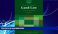 Big Deals  Maudsley   Burn s Land Law Cases and Materials  Full Ebooks Most Wanted