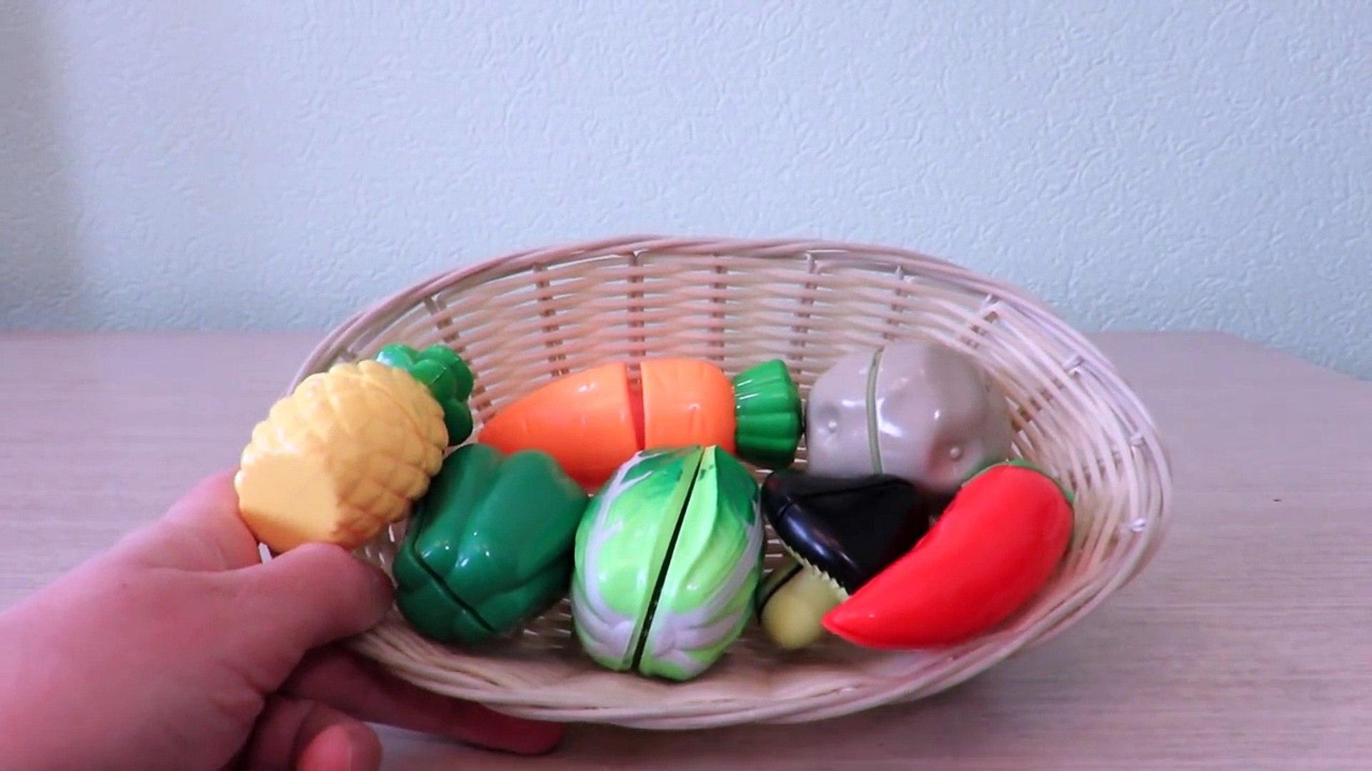 Videos for childrens Vegetables eating vegetables fun учимся готовить игрушечные овощи