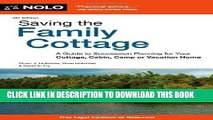 [Ebook] Saving the Family Cottage: A Guide to Succession Planning for Your Cottage, Cabin, Camp or