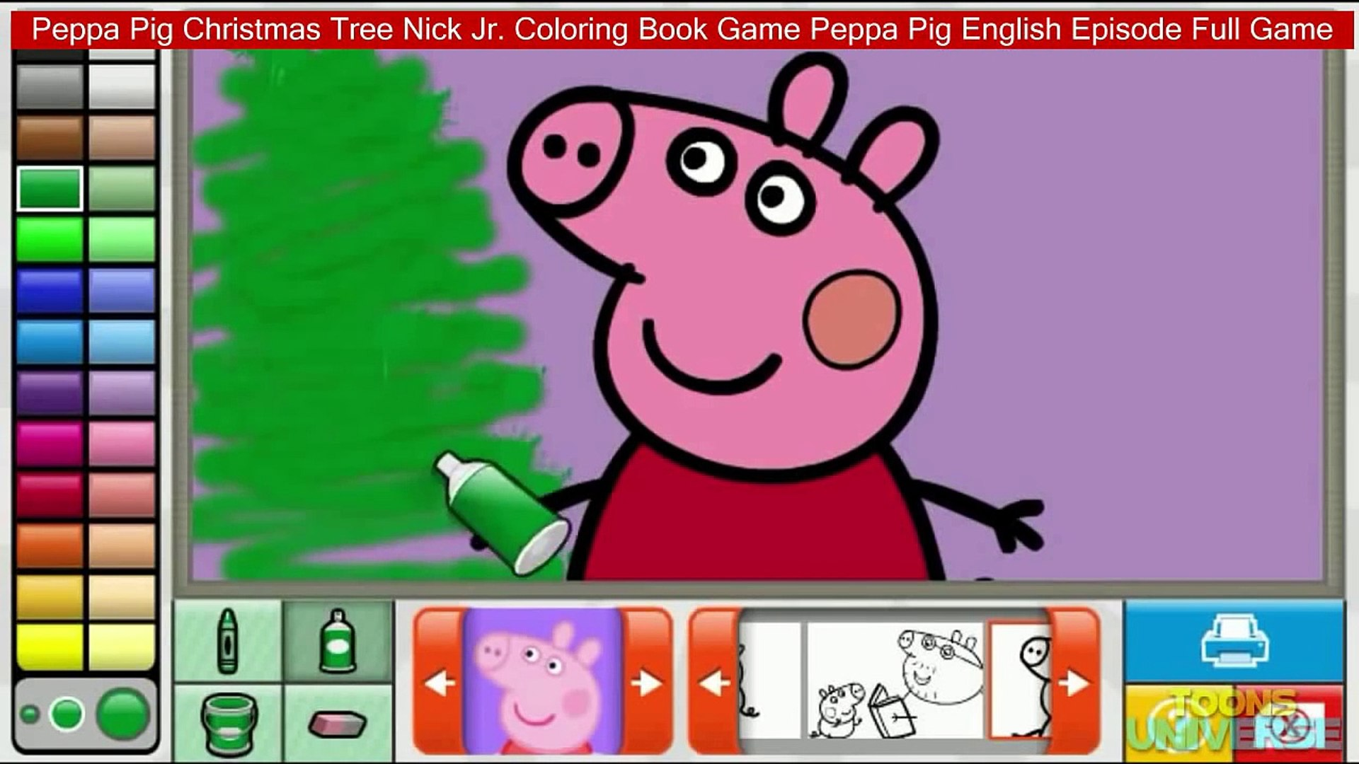 Peppa Pig Christmas Tree Nick Jr. Coloring Book Game Peppa Pig English  Episode Full Game