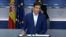 Pedro Sánchez renuncia a su escaño para no desobedecer al Comité Federal.