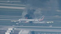Panicked passengers flee fire on American Airlines flight